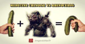 Rhinocéros vs Médecine Chinoise
